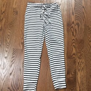 Pants - Clad and Cloth striped joggers. S.